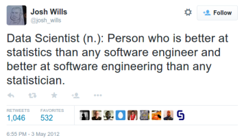 Josh Wills' definition of data scientist